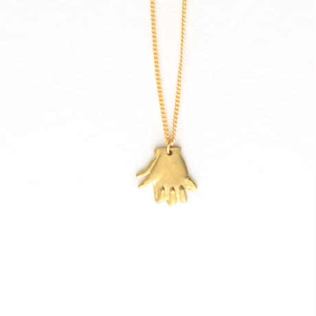 Hand shadow necklace