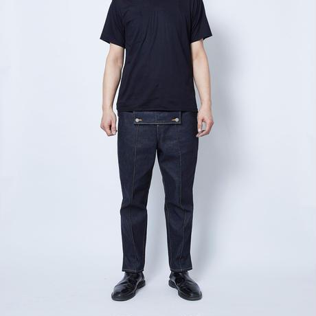 【 Aquvii Jeans 】aq518 / ROW ( CONTROL PATCH PANTS ) / INDIGO