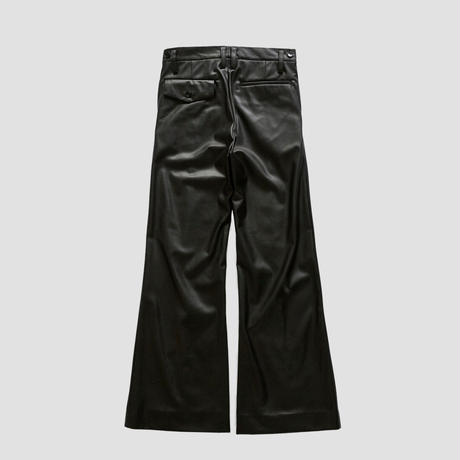 【10.29[thu]20:00‐PRE ORDER】SYNTHETIC LEATHER FLARED PANTS(BLACK)