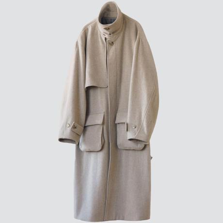 【11.28[sat]20:00‐PRE ORDER】OVERSIZED SINGLE TRENCH COAT(GREIGE)