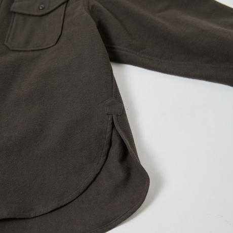 Vintage cotton cpo shirt(Dark brown)