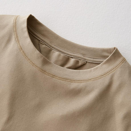 Inside-out Stitch Tee  (BEIGE)