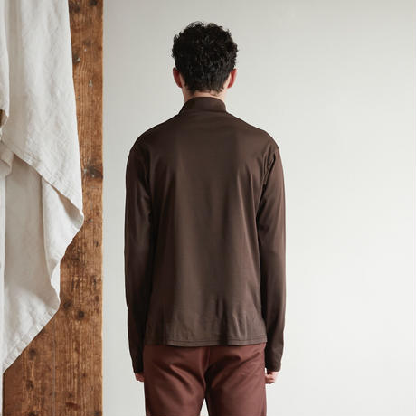Doctor neck long tee(Brown)