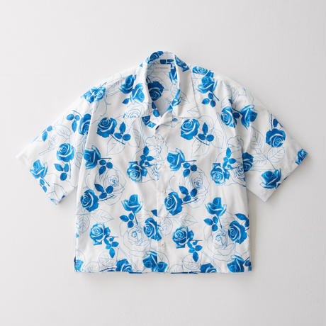 Blue rose Open Color Shirt    (WHITE)