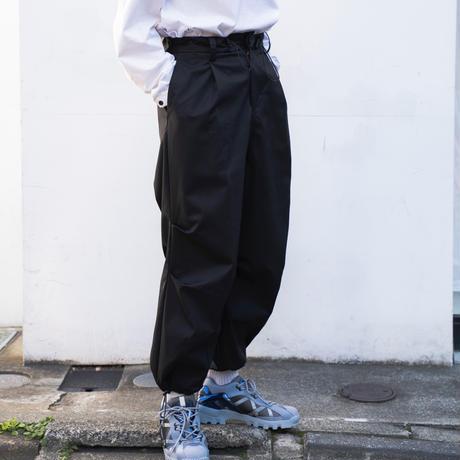 【2.17[wed]20:00‐PRE‐ORDER】VENTILE COTTON DRAWSTRING PANTS (BLACK)