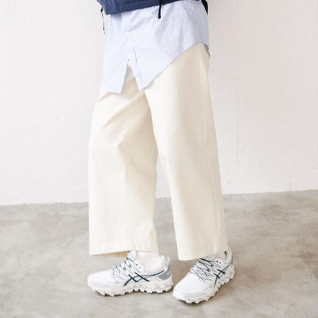 【在庫販売】COTTON BAGGY PANTS(Ivory)