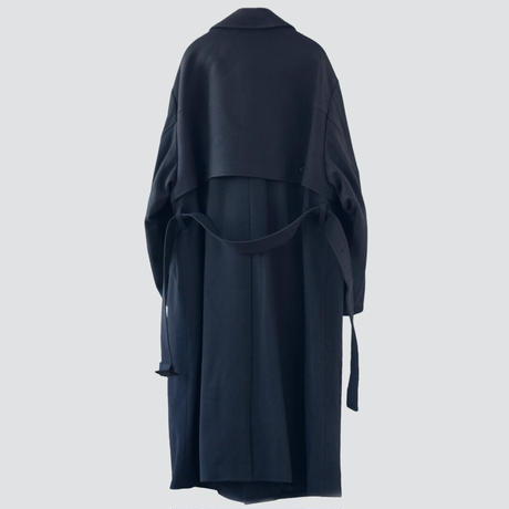 【11.28[sat]20:00‐PRE ORDER】OVERSIZED SINGLE TRENCH COAT(CHARCOAL GRAY)