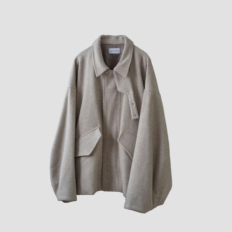 SHAGGY OVER SLEEVE DRIZZLER JACKET(IVORY)