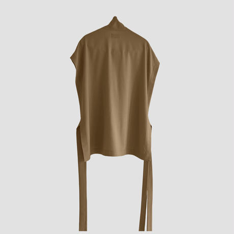 RELUX HIGH NECK VEST(CAMEL )