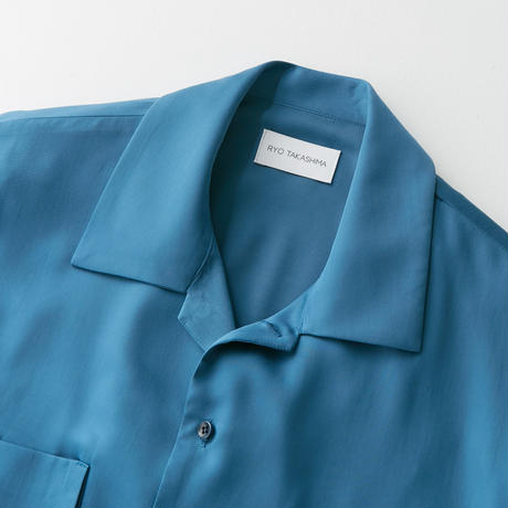 Spun  cupra Open collar shirt (Blue)