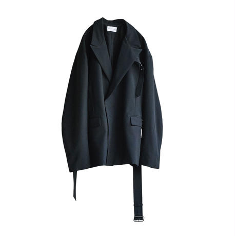 BELTED DOUBLE JACKET(BLACK)