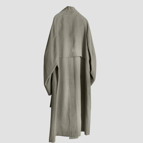 【2.10[wed]20:00‐PRE‐ORDER】STAND COLLAR OVER COAT (GREIGE)