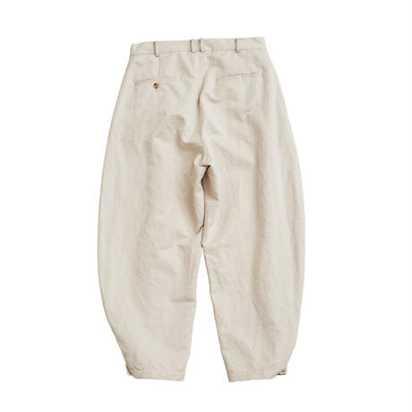 【在庫販売】COTTON LINEN CHANGE HEM PANTS (IVORY)