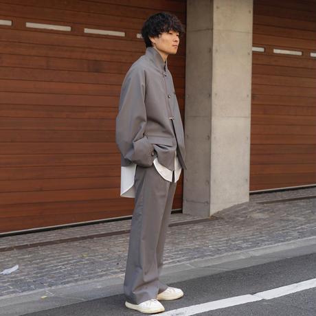 【2.24(wed)20:00‐PRE-ORDER】1TUCK FLARE PANTS(GRAY)
