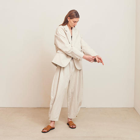 【在庫販売】COTTON LINEN OVERSIZED JACKET (IVORY)