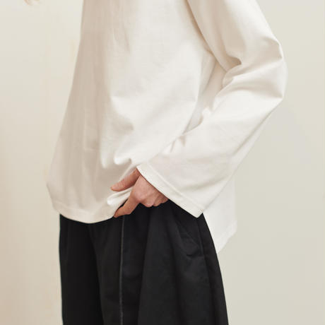 【在庫販売】CHANGE SLEEVE  TEE (WHITE)