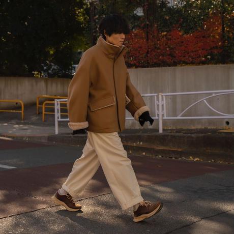 【12.26[sat]20:00‐PRE‐ORDER】OVERSIZED STAND COLLAR BLOUSON (CAMEL)