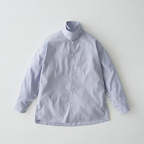 Oversize standcollar slit shirt (Stripe)