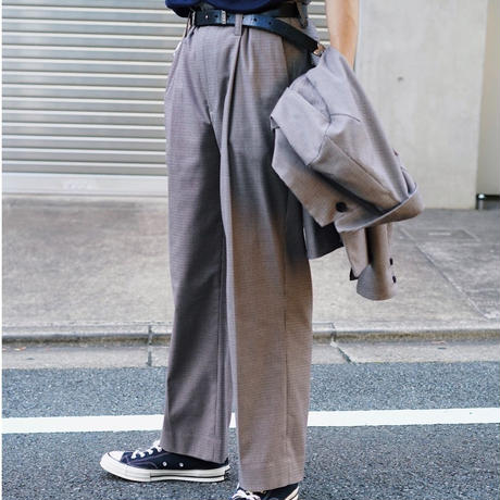 Straight Trousers(Check)