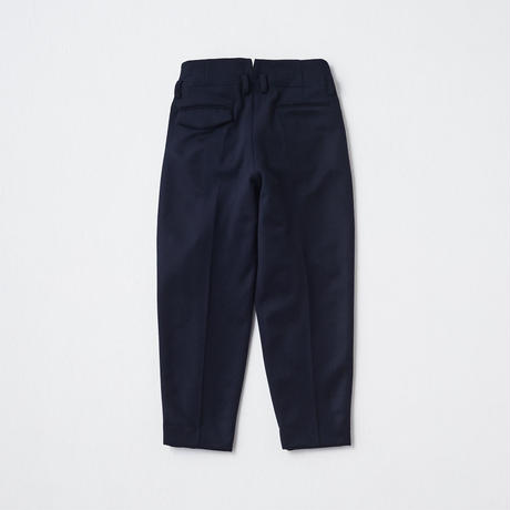 Super120's Short Beaver  Tapered  Trousers(Ivory)