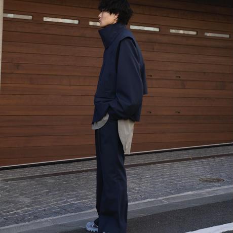 【2.24(wed)20:00‐PRE-ORDER】1TUCK FLARE PANTS(NAVY)