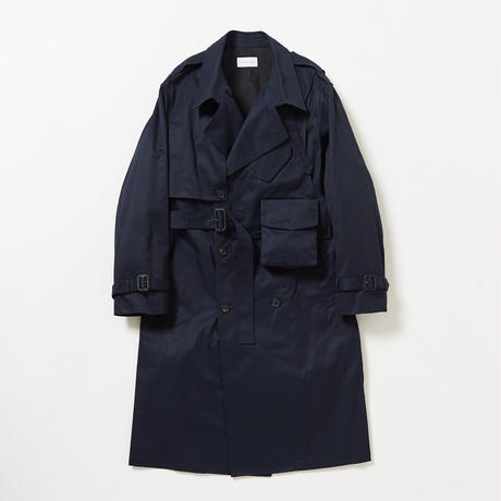 3way holster chest bag trench coat  (Navy)