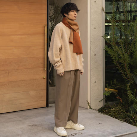 OVERSIZED KNIT PULLOVER(BEIGE)
