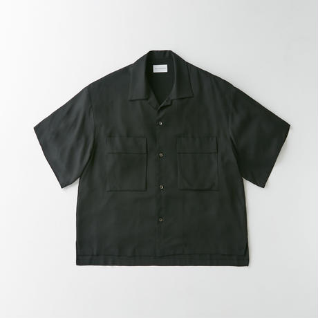 Spun  cupra Open collar shirt (Black)