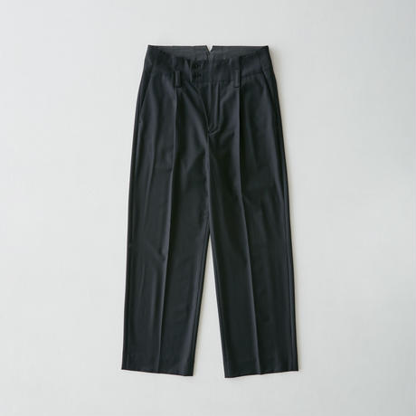 Straight Trousers(Navy)
