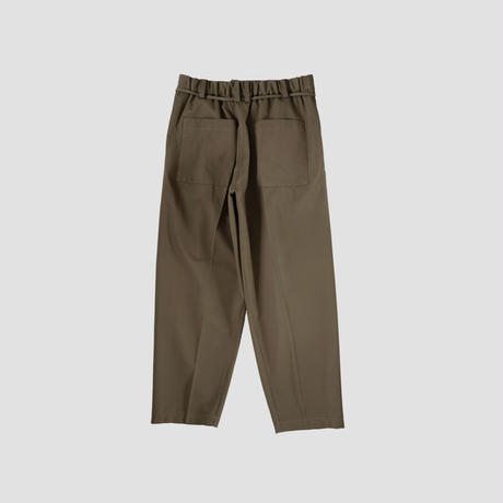 SUPER100'S CLASSIC WIDE TAPERED PANTS(CAMEL)