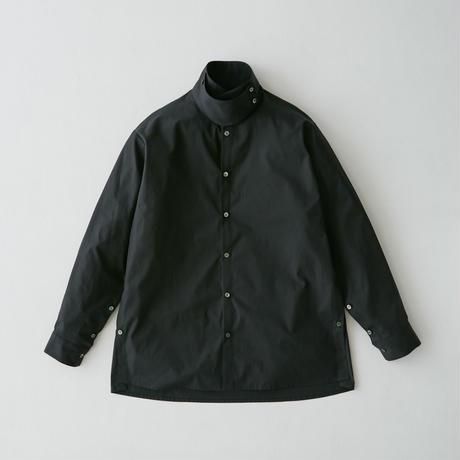 Oversize standcollar slit shirt (Black)