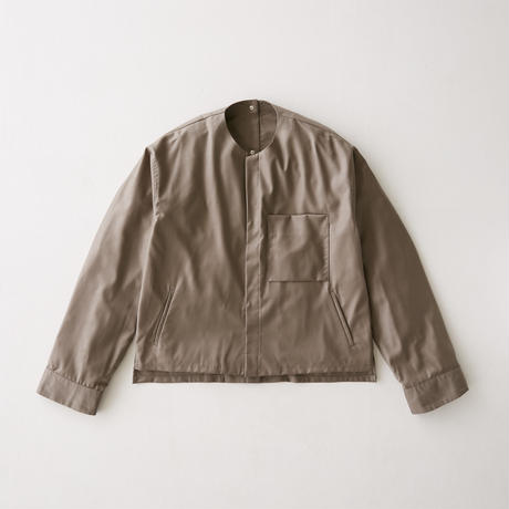 Viegin wool no collar blouson (Greige)