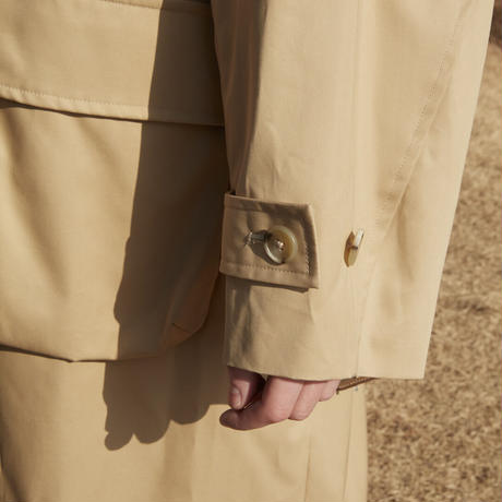 VENTILE  OVERSIZED SINGLE TRENCH COAT(BEIGE)
