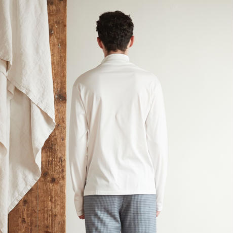 Doctor neck long tee(White)