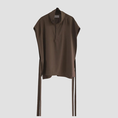 RELUX HIGH NECKVEST(BROWN)