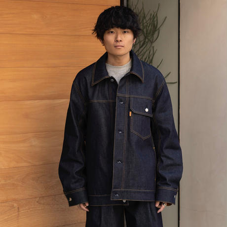 【1.27[wed]20:00‐PRE‐ORDER】OVERSIZED DENIM  JACKET  (INDIGO RIGID)