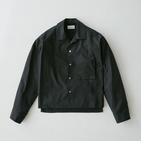 Shortlength opencollar shirt  (Black)