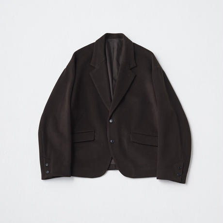 Super120's Short beaver Over Jacket(Darkbrown)