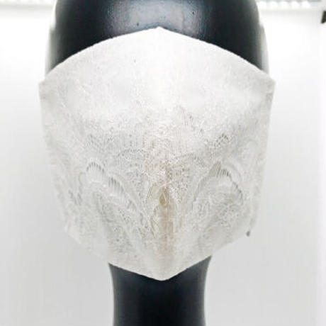 【ウェディングマスク】レース/ホワイト