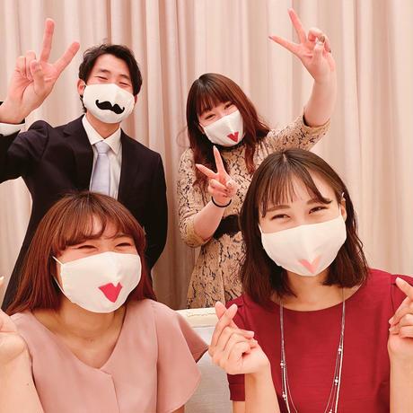 【ウェディングマスク】ヒゲ/メキシカン