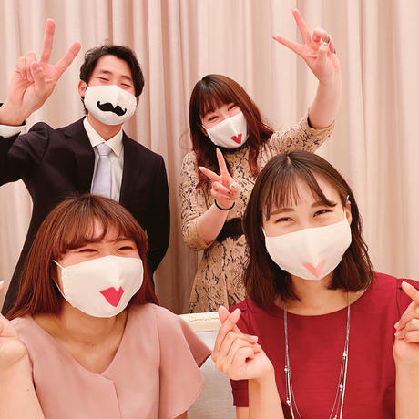 【ウェディングマスク】ヒゲ/チャップリン