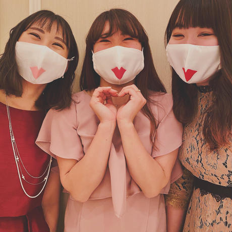 【ウェディングマスク】リップ/レッド