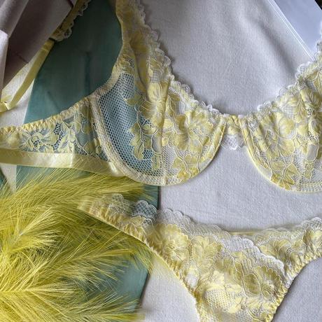 選べるS・Msize pastel yellow flowers 【 A-0258】