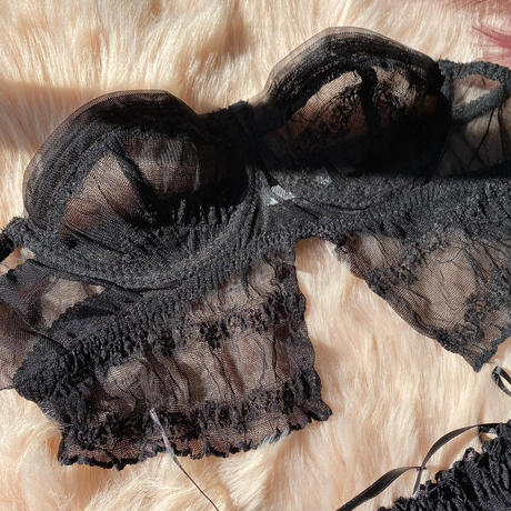 black corset set