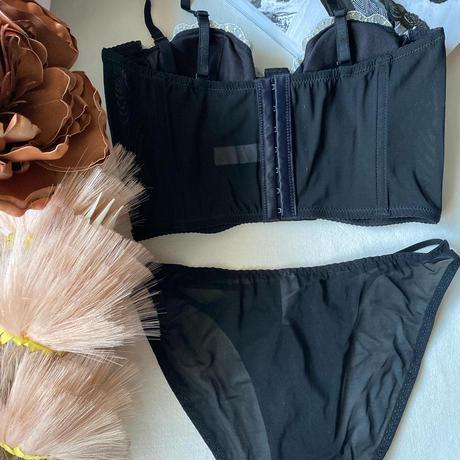 black corset set up   【A-0303-BK】