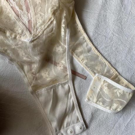 flower lace body suit