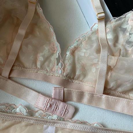 pink beige set   【A-0300】