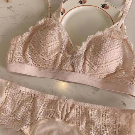 round lace bralette set up pink