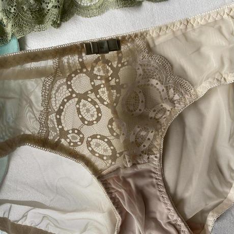 選べる2size bicolor lace bralette set  up【A-0180-GRE 】