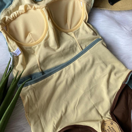 swimwear smoky blue green ×brown